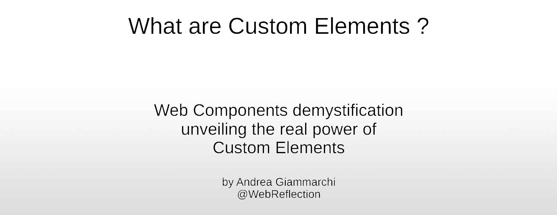 What are Custom Elements?
